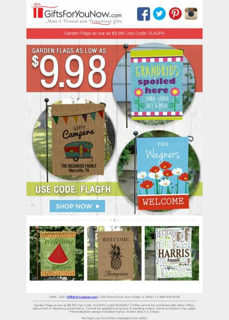 Shop $9.98 Personalized Garden Flags